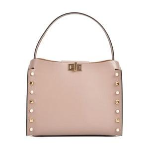 Růžová kožená kabelka Sofia Cardoni Marissa