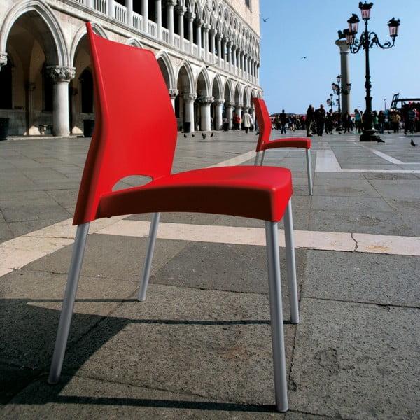 Židle Breeze Red, vhodná do interiéru i exteriéru