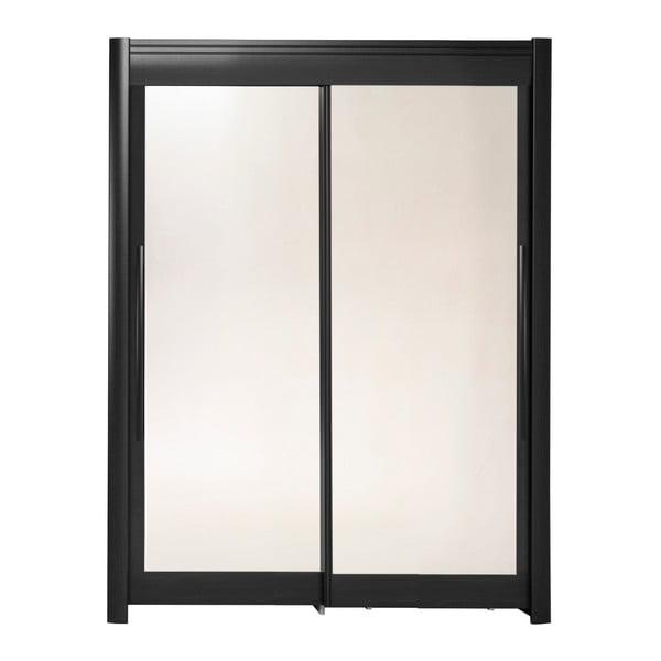Černá šatní skříň s posuvnými dveřmi Parisot Adorlée, šířka160cm