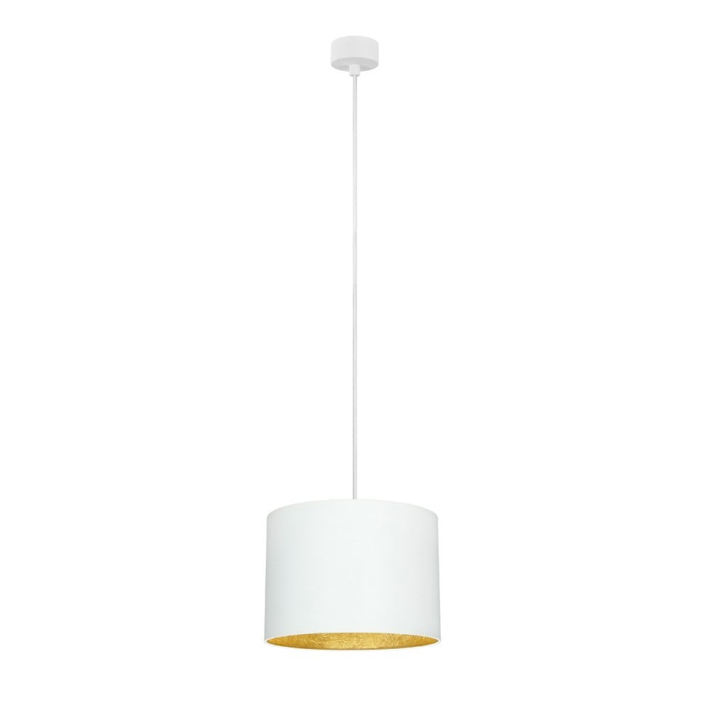 Bílé stropní svítidlo s vnitřkem ve zlaté barvě Sotto Luce Mika, ⌀25cm