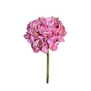 Tmavě růžová umělá květina Hortenzie
