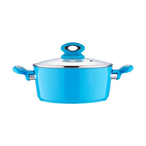 Hrnec s pokličkou Fix Line 22 cm, světle modrá