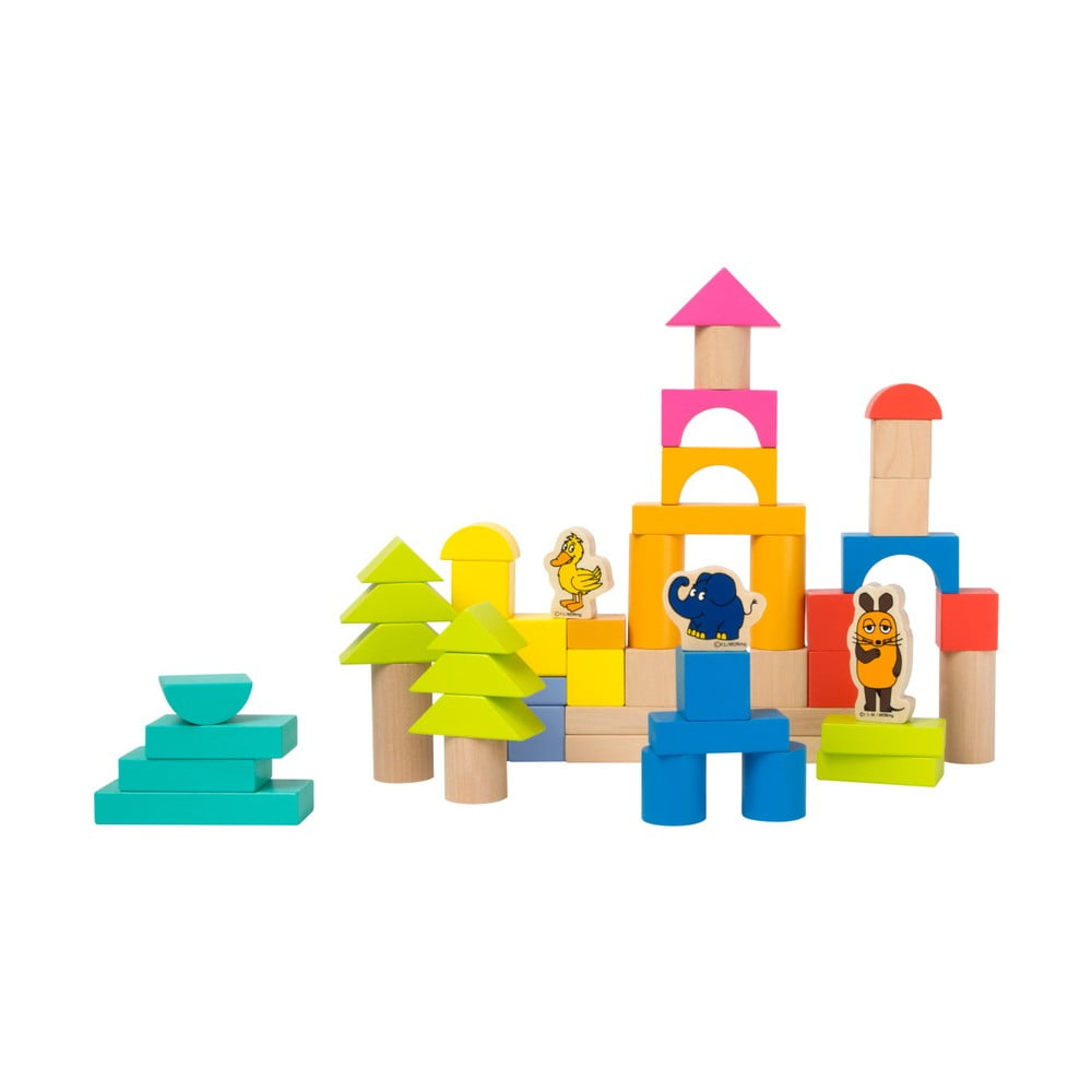 Dětské dřevěné kostky Legler Die Maus, 50 ks