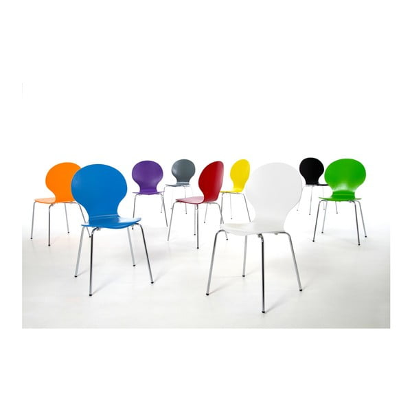 Sada 4 oranžových jídelních židlí Actona Marcus Dining Chair