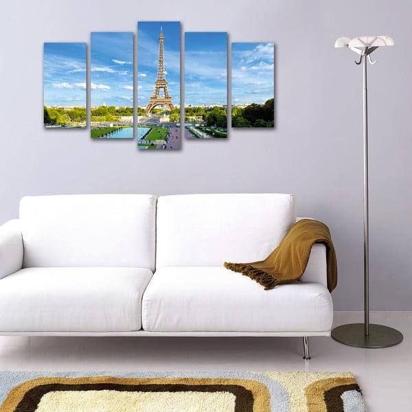 5dílný obraz Výhled na Eiffelovku