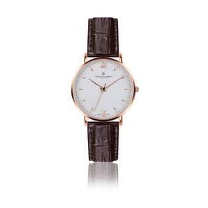 Unisex hodinky s hnědým páskem z pravé kůže Frederic Graff Croco