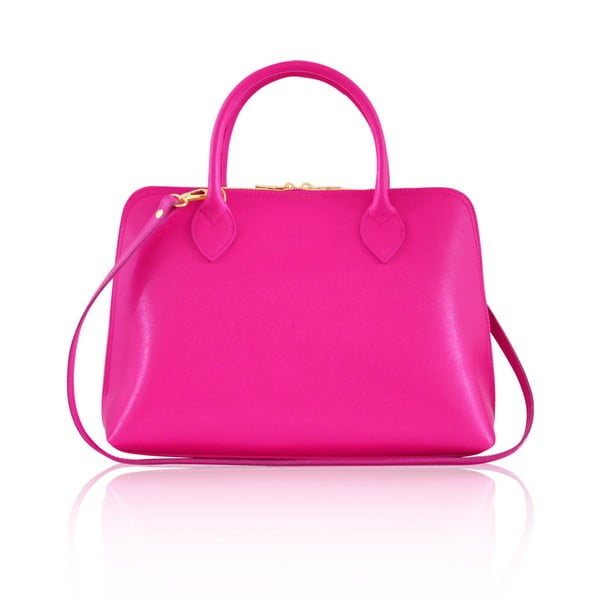 Kožená kabelka Penny, růžová