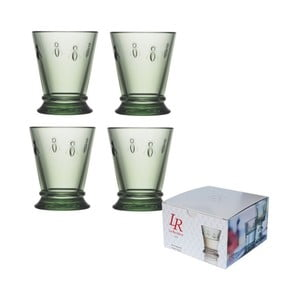 Sada 4 zelených skleniček La Rochére Abeille