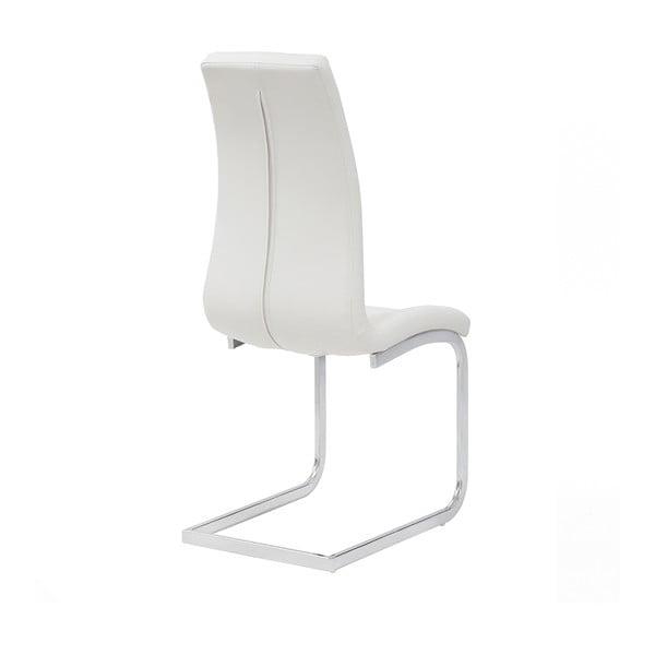 Bílá jídelní židle Sohl