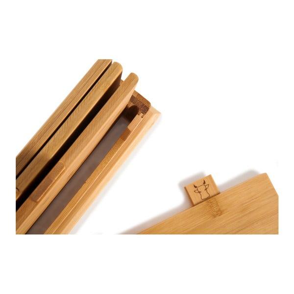 Set 4 tocătoare din bambus cu suport Bambum Tapenade