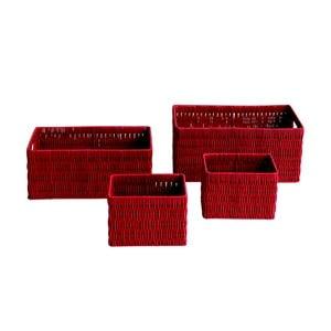 Sada úložných košíku Galzone Red