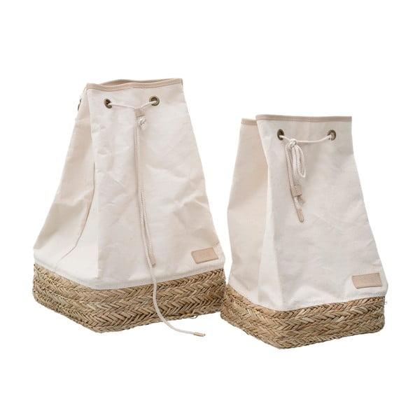 Set 2 saci depozitare din iarbă de mare și bumbac InArt
