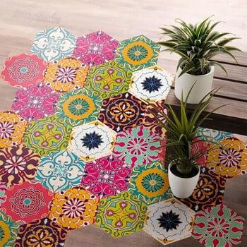 Set 10 autocolante impermeabile pentru podea Ambiance Dafne, 20 x 18 cm de la Ambiance
