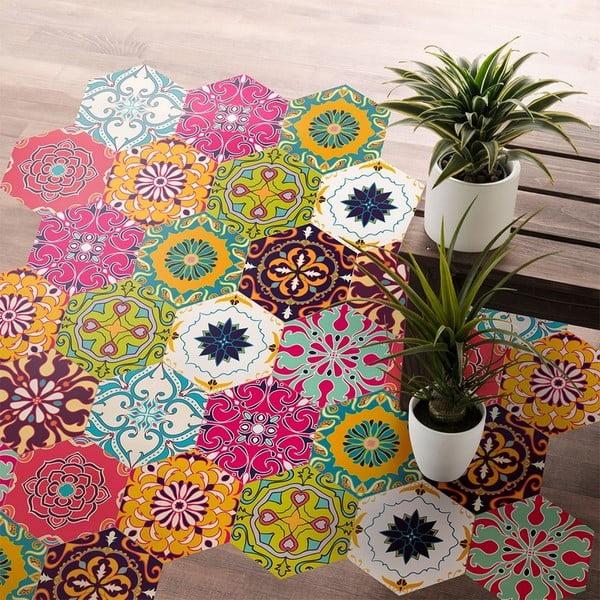 Set 10 autocolante impermeabile pentru podea Ambiance Dafne, 20 x 18 cm