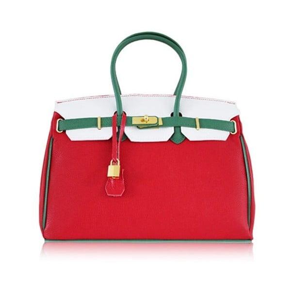 Kožená kabelka Dolce Birk Rosso/Verde/Bianco