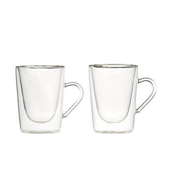 Set 2 căni din sticlă dublă Bredemeijer Coffee&Tea, 295 ml poza