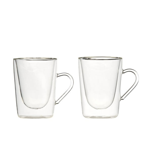 Set 2 căni din sticlă dublă Bredemeijer Coffee&Tea, 295 ml