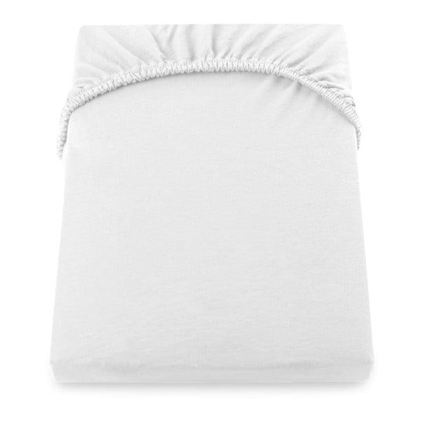 Cearșaf de pat cu elastic DecoKing Nephrite, 140–160 cm, alb