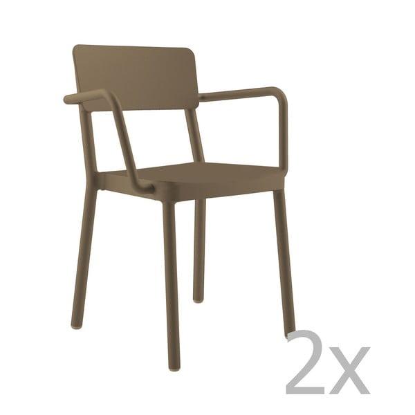 Lisboa csokoládébarna kerti fotel, 2 db - Resol