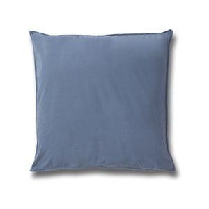 Modrý bavlněný povlak na polštář Casa Di Bassi Softtouch, 80x80cm