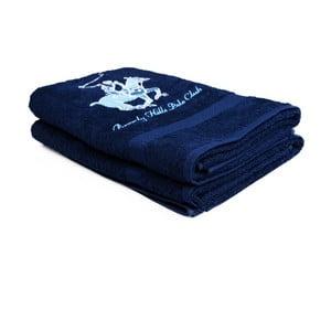 Set 2 prosoape Beverly Hills Polo Club Brilliant, 60 x 110 cm, albastru închis