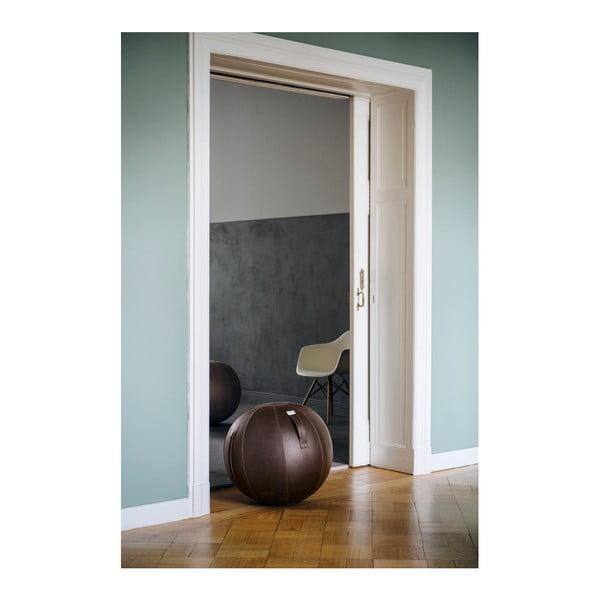 Tmavě hnědý sedací míč VLUV, 65 cm