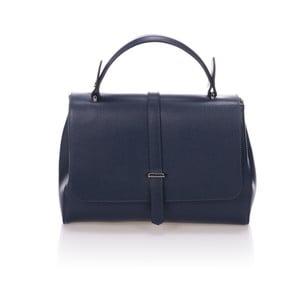 Tmavě modrá kožená kabelka Giulia Massari Ronda
