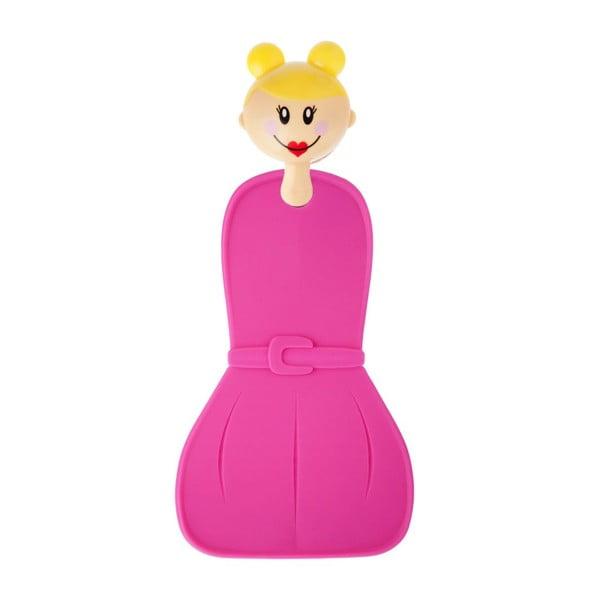 Silikonové chňapky Dolls s věšáčkem, růžové