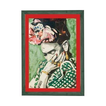 Tablou cu ramă pentru perete Surdic Red Frida, 30 x 40 cm