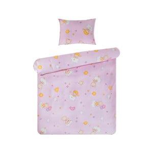 Set povlečení Home de Bleu 100x135 cm, Happy Bear Pink