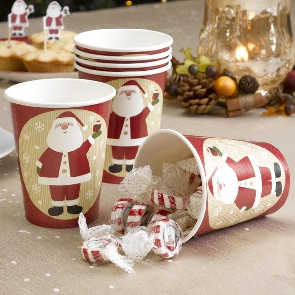 Sada 8 papírových kelímků Neviti Let It Snow Father Christmas