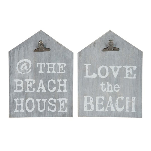 Dala 2 podložek s klipsem Grey Beach, 22x30 cm