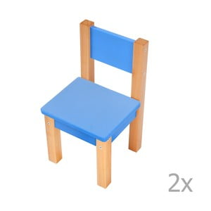 Sada 2 modrých dětských židliček Mobi furniture Mario