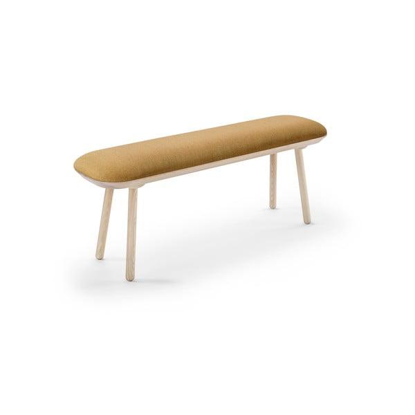 Żółta ławka EMKO Naïve, 140 cm