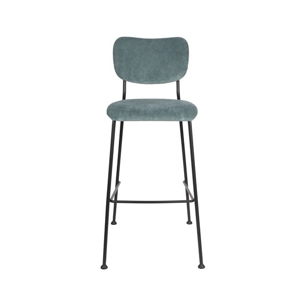 Sada 2 šedomodrých barových židlí Zuiver Benson, výška 102,2 cm