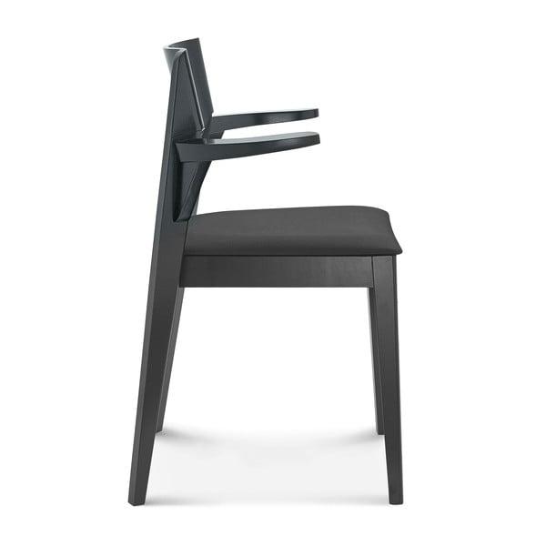 Černá dřevěná židle Fameg Ingred