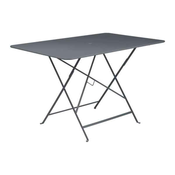 Antracitově šedý skládací zahradní stolek Fermob Bistro, 117 x 77 cm