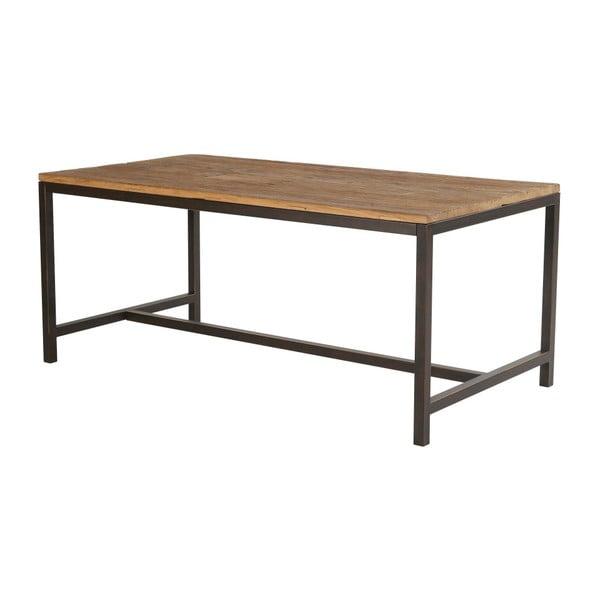 Jedálenský stôl s doskou z brestového dreva Interstil Vintage, 180 × 45 cm