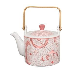 Červeno-bílá porcelánová čajová konvice Tokyo Design Studio Shiki,800ml