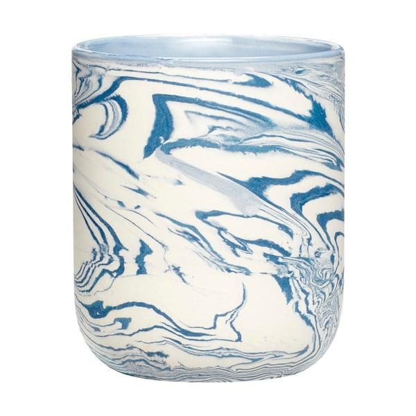 Cană Hübsch Marble, înălțime 10 cm, alb - albastru