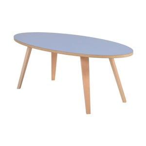 Modrý oválný konferenční stolek Garageeight Arvika, délka114cm