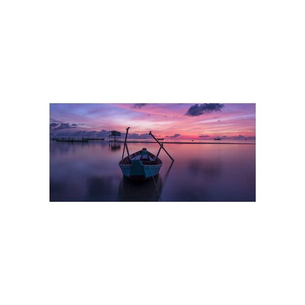 Obraz Boat Sunrise, 55x115 cm
