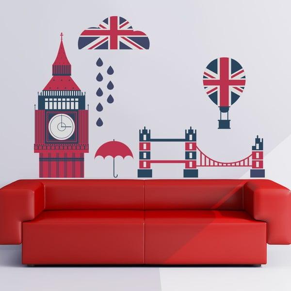 Samolepka na stěnu Británie, 50x70 cm