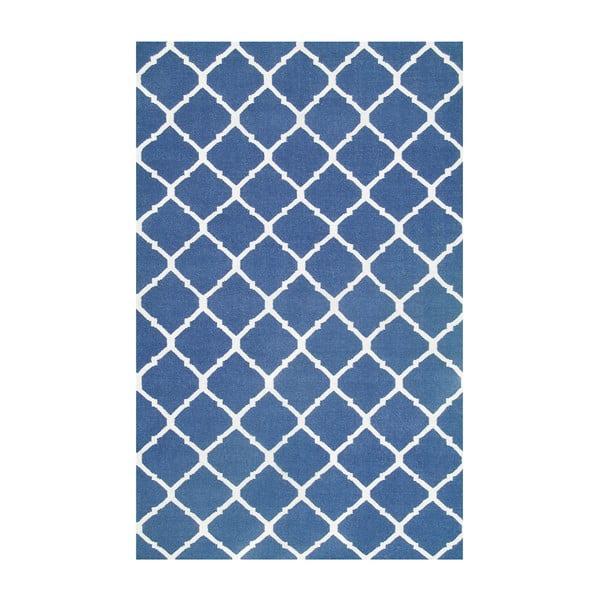 Vlněný koberec Julia Dark Blue, 140x200