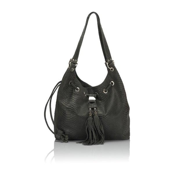 Šedá kožená kabelka Lisa Minardi Divisa