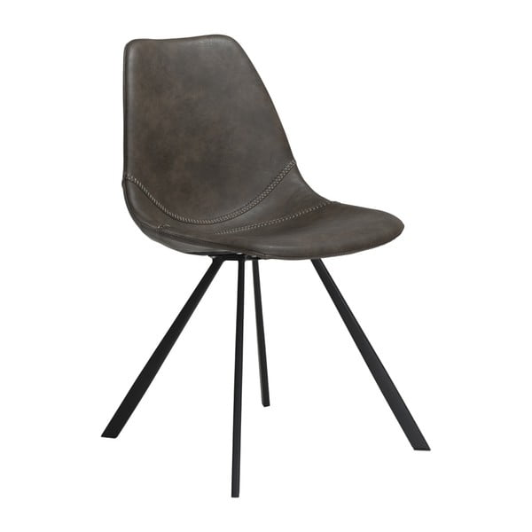 Šedá jídelní židle z eko kůže DAN–FORM Denmark Pitch
