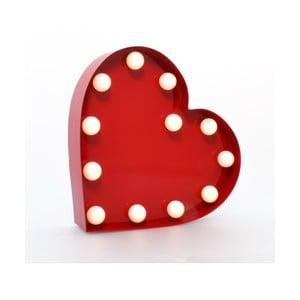 Dekorativní světlo Carnival Heart, červené