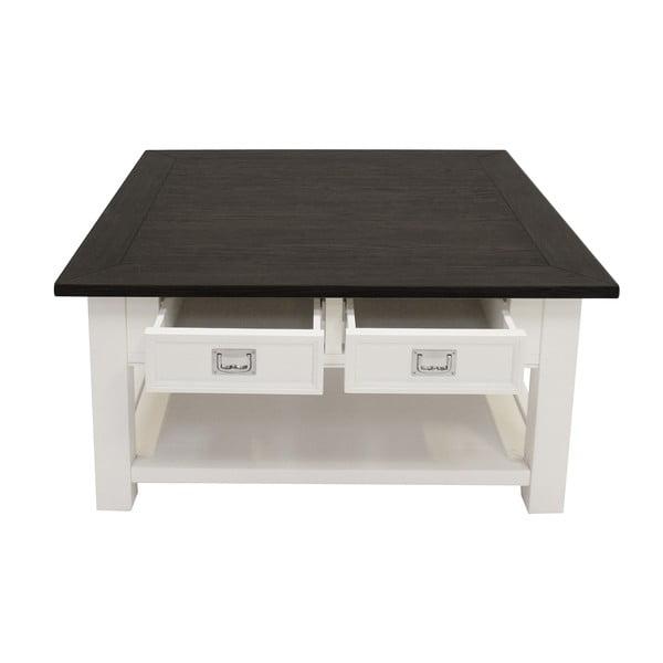 Bílý konferenční stolek Canett Skagen, 4 zásuvky