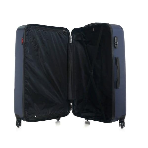 Tmavě modrý cestovní kufr ve na kolečkách Hero Coronado, 91 l