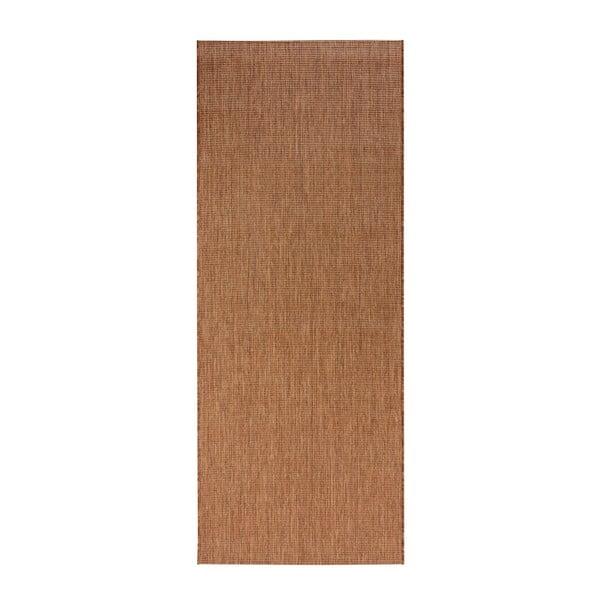Hnedý behúň vhodný aj do exteriéru Match, 80×200 cm